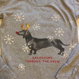 Daschund long sleeve Christmas shirt